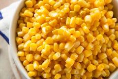 Cereale cotto a vapore giallo organico fotografia stock