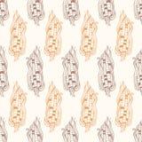 Cereale d'annata di vettore sul disegno della pannocchia senza cuciture Fotografia Stock