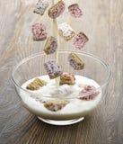 Cereale dei fiocchi di frumento Immagini Stock