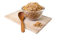 Cereale del Granola con i frutti secchi Fotografia Stock Libera da Diritti