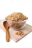 Cereale del Granola con i frutti secchi Fotografia Stock