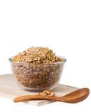 Cereale del Granola con i frutti secchi in ciotola Fotografia Stock Libera da Diritti