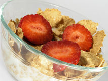 Cereale della fragola Fotografie Stock