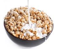 Cereale e latte fotografia stock