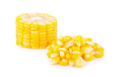 Cereale giallo isolato sul bianco fotografie stock