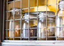 Cereale in una bottiglia di vetro Immagini Stock