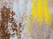 Cereales arroz, trigo, Fotos de archivo