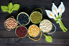 Cereales, comida sana, fibra, proteína, grano, antioxidante fotos de archivo