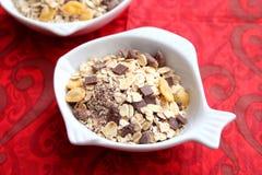Cereales con el chocolate Imagenes de archivo