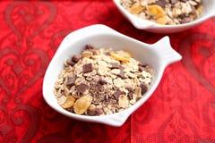 Cereales con el chocolate Imagen de archivo libre de regalías