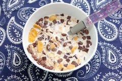 Cereales con el chocolate Imagen de archivo
