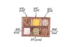 Cereales de la caloría imagen de archivo libre de regalías