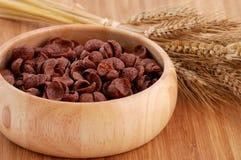 Cereales del cacao con la decoración Imagen de archivo