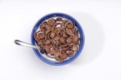 Cereales del chocolate fotografía de archivo