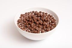 Cereales del chocolate del desayuno Imágenes de archivo libres de regalías
