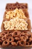 Cereales del chocolate y de la miel Fotografía de archivo