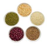 Cereales en tazas Fotos de archivo