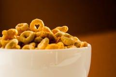 Cereales en un cuenco Foto de archivo libre de regalías