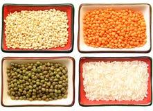Cereales y legumbres Imágenes de archivo libres de regalías