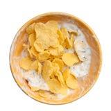 Cereales y mezcla del yogur imágenes de archivo libres de regalías