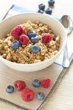 Cereali con i mirtilli ed i lamponi Immagine Stock