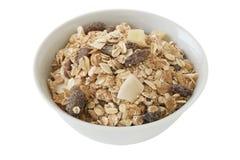 Cereali con la frutta asciutta Immagine Stock