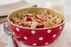 Cereali con la frutta asciutta immagini stock