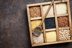 Cereali diversi e semi Immagine Stock