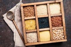 Cereali diversi e semi Fotografie Stock Libere da Diritti
