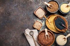 Cereali diversi e semi Immagini Stock