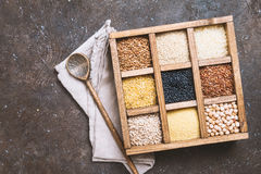Cereali diversi e semi Fotografia Stock Libera da Diritti