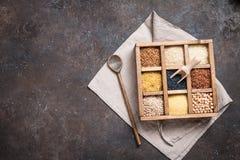 Cereali diversi e semi Immagini Stock Libere da Diritti