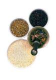 Cereali e grani in navi Fotografia Stock Libera da Diritti