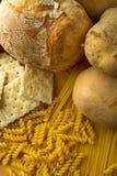 Cereali e riso e patate fotografia stock