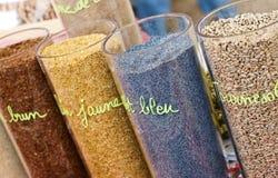 Cereali multicolori Immagini Stock