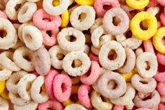 Cereali variopinti dell'anello Fotografia Stock
