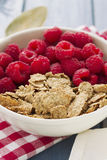 Cereals with berries on bowl Stock Image