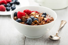 Cereals with berries Royalty Free Stock Photography