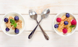Cereals and berry fruit Royalty Free Stock Photography