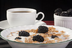 Cereals with blackberry Stock Image