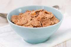 Cereals in blue bowl Royalty Free Stock Photos