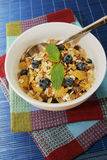 Cereals with blueberries Royalty Free Stock Image