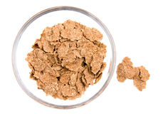 Cereals in bowl from above Royalty Free Stock Image