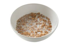 Cereals in a bowl with milk Royalty Free Stock Photos