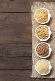 Cereals in bowls border Stock Image