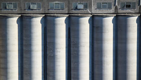 Cereals cement silos Royalty Free Stock Photos