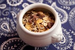 Cereals with chocolate royalty free stock image