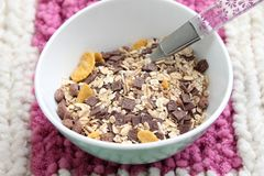 Cereals with chocolate stock photos