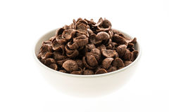 Cereals chocolate in white bowl Stock Photo