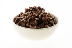 Cereals chocolate in white bowl Stock Photography